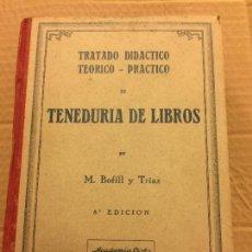 Libros de segunda mano: TRATADO DIDACTICO, TEORICO, PRACTICO DE TENEDURIA DE LIBROS. 1940 - 612PGS - MIDE 22X16CMS. Lote 125954935