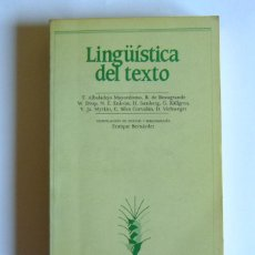 Livres d'occasion: LINGÜISTICA DEL TEXTO - T. ALBADALEJO MAYORDOMO Y OTROS - ENRIQUE BERNARDEZ ( SELECCCION DE TEXTOS ). Lote 126317315