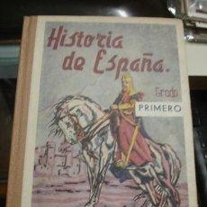 Libros de segunda mano: HISTORIA DE ESPAÑA GRADO PRIMERO ED. BRUÑO - PORTAL DEL COL·LECCIONISTA *****. Lote 127199595