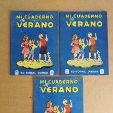 Libros de segunda mano: LOTE DE 3 CUADERNOS DE DEBERES Nº 2,3,4 DE VACACIONES, DURAN 1945. Lote 127747299