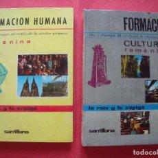 Libros de segunda mano: FEMENINA.-FORMACION HUMANA.-FORMACION CULTURAL.-LA RAIZ Y LA ESPIGA.-SANTILLANA.-ENSEÑANZA.-AÑOS 60.. Lote 128104499