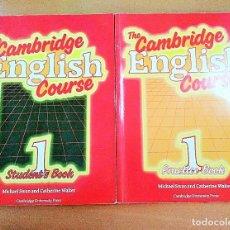Libros de segunda mano: LIBRO TEXTO INGLES THE CAMBRIDGE ENGLISH COURSE PRACTICE Y STUDENT BOOK BUP 80. Lote 128201111