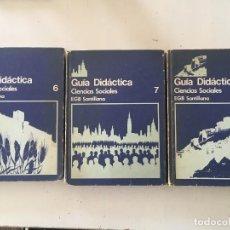 Libros de segunda mano: GUÍA DIDÁCTICA SANTILLANA 6 7 Y 8 EGB CIENCIAS SOCIALES . Lote 128229647