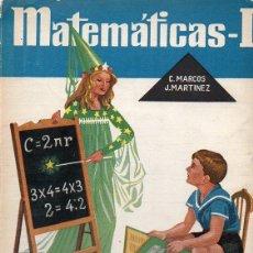 Libros de segunda mano: MATEMÀTICAS 1ER CURSO S.M. 1960. Lote 128256408