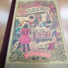 Libros de segunda mano: LECTURA DE VERSOS Y MANUSCRITOS PENSAMIENTO INFANTIL CALLEJA FACSIMIL. Lote 128322703