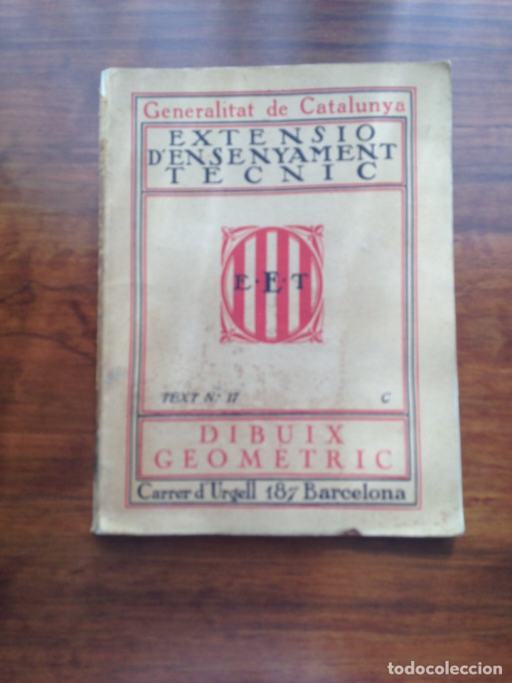EXTENSIO D'ENSENYAMENT TECNIC. DIBUIX GEOMETRIC 1937 (Libros de Segunda Mano - Libros de Texto )