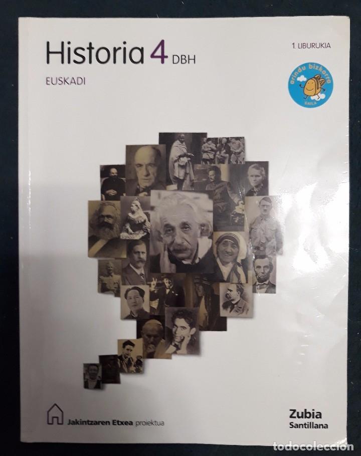 HISTORIA 4 DBH 4º ESO 1.LIBURUKIA - ZUBIA SANTILLANA 9788498941890 (Libros de Segunda Mano - Libros de Texto )