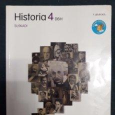 Libros de segunda mano: HISTORIA 4 DBH 4º ESO 1.LIBURUKIA - ZUBIA SANTILLANA 9788498941890. Lote 128942155