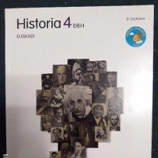 Libros de segunda mano: HISTORIA 4 DBH 4º ESO 3.LIBURUKIA - ZUBIA SANTILLANA 9788498942866. Lote 173803545