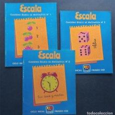Libros de segunda mano: REGATA / PRIMERO EGB (E.G.B.) 3 CUADERNOS DE MATEMATICAS (SERIE COMPLETA) ED. MANGOLD 1981. Lote 130307262