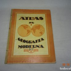 Libros de segunda mano: ANTIGUO ATLAS ESCOLAR DE GEOGRAFIA MODERNA DCP DALMAU CARLES PLA, S.A. EN GERONA Y MADRID AÑO 1950S.. Lote 130380586