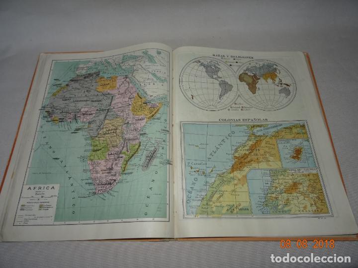 Libros de segunda mano: Antiguo ATLAS Escolar de Geografia Moderna DCP Dalmau Carles Pla, S.A. en Gerona y Madrid Año 1950s. - Foto 5 - 130380586