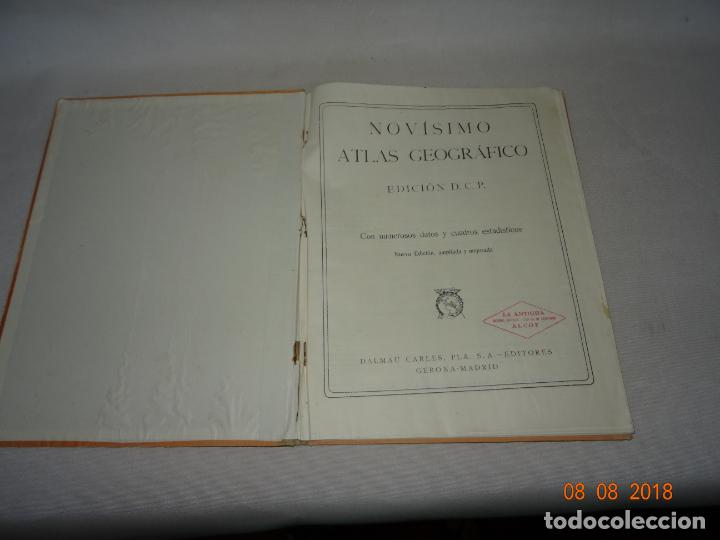 Libros de segunda mano: Antiguo ATLAS Escolar de Geografia Moderna DCP Dalmau Carles Pla, S.A. en Gerona y Madrid Año 1950s. - Foto 6 - 130380586