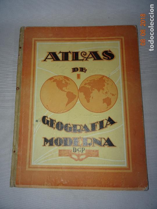 Libros de segunda mano: Antiguo ATLAS Escolar de Geografia Moderna DCP Dalmau Carles Pla, S.A. en Gerona y Madrid Año 1950s. - Foto 7 - 130380586