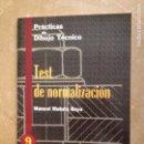 Libros de segunda mano: PRACTICAS DE DIBUJO TÉCNICO. TEST DE NORMALIZACIÓN (MANUEL MATUTE ROYO). Lote 130411522