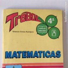 Libros de segunda mano: TREBOL MATEMÁTICAS CICLO MEDIO 4 E.G.B. EVEREST/NUEVO!!!. Lote 131061412