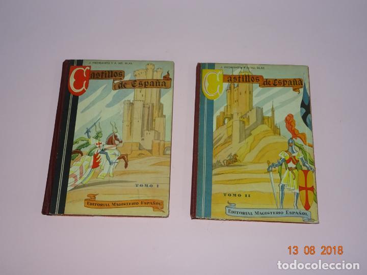 LIBROS DE ESCUELA *CASTILLOS DE ESPAÑA* TOMOS I Y II - EDIT MAGISTERIO ESPAÑOL (Libros de Segunda Mano - Libros de Texto )