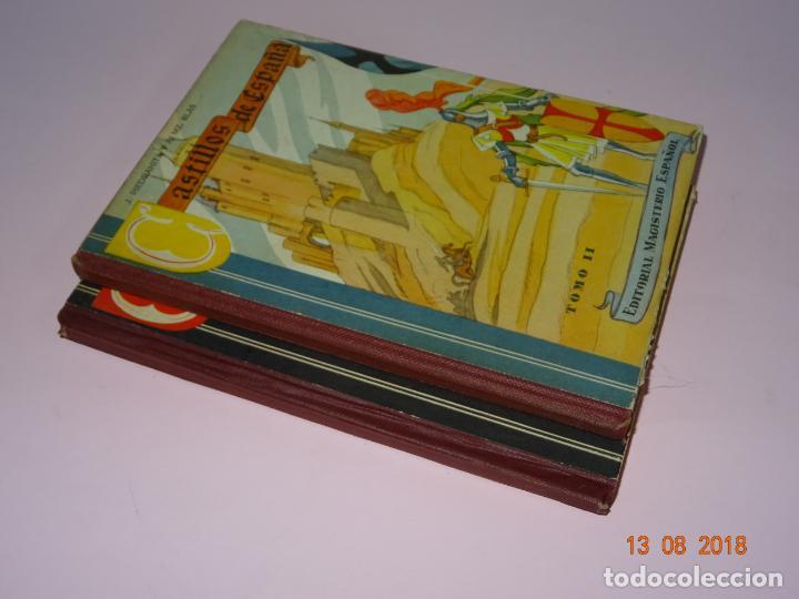 Libros de segunda mano: Libros de Escuela *CASTILLOS DE ESPAÑA* Tomos I y II - Edit Magisterio Español - Foto 2 - 131133520