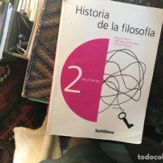 Libros de segunda mano: HISTORIA DE LA FILOSOFÍA. MIGUEL MARÍN. SANTILLANA. Lote 131274251