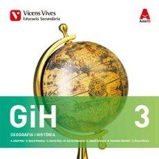 Libros de segunda mano: GIH 3 (GEOGRAFIA I HISTORIA ESO ) (CATALÁN).. Lote 131275699