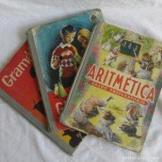 Libros de segunda mano: 3 LIBROS DE LA ESCUELA. 1964-1965. GEOMETRÍA, ARITMÉTICA Y GRAMÁTICA. ED. LUIS VIVES. Lote 131348894