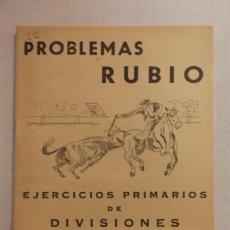 Libri di seconda mano: PROBLEMAS RUBIO - EJERCICIOS DE DIVISIONES - CUADERNO 4 - EDICIONES RUBIO,1959 - SIN USO. Lote 131785250