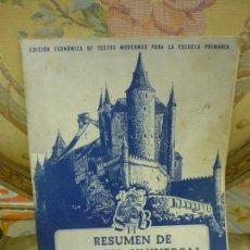 Libros de segunda mano: RESUMEN DE HISTORIA UNIVERSAL. MUY ILUSTRADO. Lote 132712150