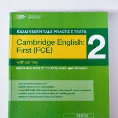 Libros de segunda mano: CAMBRIDGE ENGLISH: FIRST (FCE) - 2. Lote 132941006