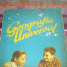 Libros de segunda mano: GEOGRAFIA UNIVERSAL 2º BACHILLERATO ANTINIO M ZUBIA SM 1964. Lote 132998794