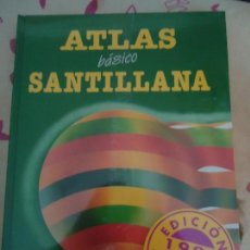 Libros de segunda mano: LIBRO. ATLAS BÁSICO SANTILLANA. EDICIÓN 1995, ACTUALIZADA, NUEVA ENCELOFANADA.. Lote 133009326
