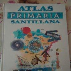 Libros de segunda mano: LIBRO. ATLAS PRIMARIA SANTILLANA. , NUEVA SIN USO ENCELOFANADA, VER FOTOS.. Lote 133010222