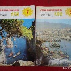 Libros de segunda mano: PAREJA DE LIBROS DE COLEGIO DE EGB. Lote 133229306