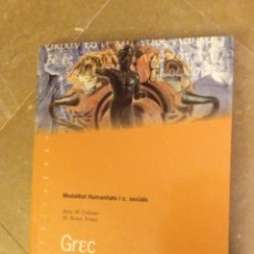 Libros de segunda mano: GREC. MODALITAT HUMANITATS I C. SOCIALS (ROSA M. COLOMER, M. REMEI TOMÀS) CASTELLNOU EDICIONS. Lote 133678398