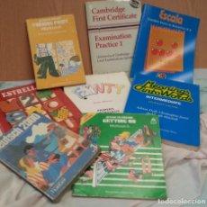 Libros de segunda mano: LIBROS ESCOLARES AÑOS 80. CONJUNTO DE 8 LIBROS.. Lote 133805262
