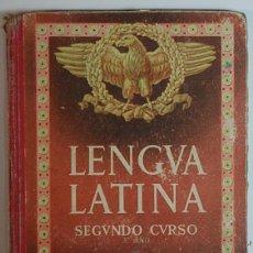 Libros de segunda mano: LENGUA LATINA.SEGUNDO CURSO. POR EDELVIVES.ZARAGOZA.1954. Lote 134040694