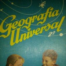 Libros de segunda mano: GEOGRÁFICO UNIVERSAL. 2° AÑO. ANTONIO M. ZUBIA. EDICIONES S. M. AÑO 1958. RÚSTICA. PÁGINAS 303. PESO. Lote 135265073