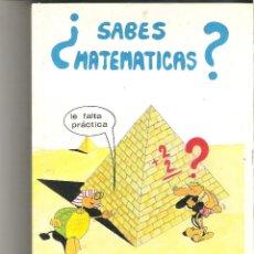 Libros de segunda mano: 1 LIBRO TEXTO AÑO 1989 ILIBRO DE APRENDER MATEMATICAS BASICAS ¿SABES MATEMATICAS? EDITORIAL FOMENTO. Lote 135360354