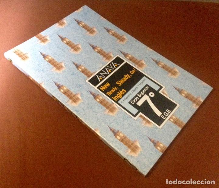 Libros de segunda mano: ANAYA LIBRO DE INGLÉS. NEW READY, STEADY, GO!. 7º EGB. 1988. - Foto 3 - 269010589