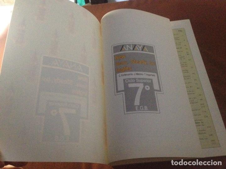 Libros de segunda mano: ANAYA LIBRO DE INGLÉS. NEW READY, STEADY, GO!. 7º EGB. 1988. - Foto 5 - 269010589