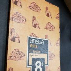 Libros de segunda mano: ANAYA 8 EGB - VOLTA - C SOCIALS - CATALAN - TDK299. Lote 135733791