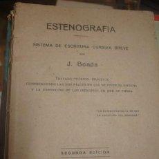 Libros de segunda mano: ESTENOGRAFIA SISTEMA DE ESCRITURA CURSIVA BREVE POR J.BOADA - PORTAL DEL COL·LECCIONISTA *****. Lote 135925742