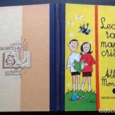 Libros de segunda mano: LECTURAS MANUSCRITAS POR ALBERTO MONTAÑA, EDITORIAL SALVATELLA 1964. Lote 136472950
