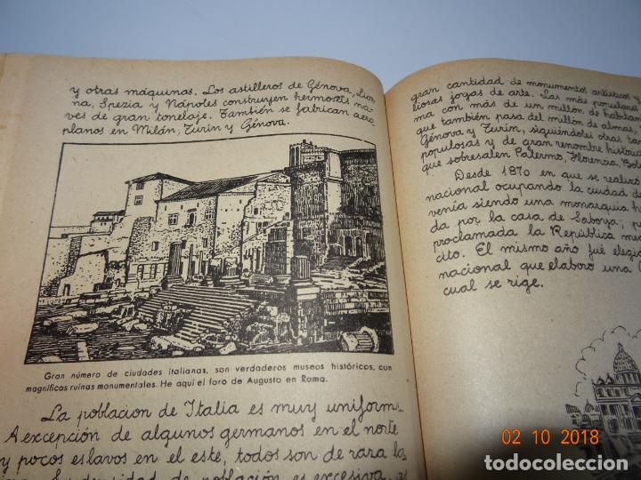 Libros de segunda mano: Antiguo Libro de Escuela EUROPA Y SUS GRANDES CIUDADES de la Editorial Miguel A. Salvatella Año 1958 - Foto 2 - 136592210