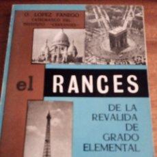 Libros de segunda mano: FRANCÉS DE LA REVÁLIDA DE GRADO ELEMENTAL: O. LÓPEZ FANEGO. Lote 176400527