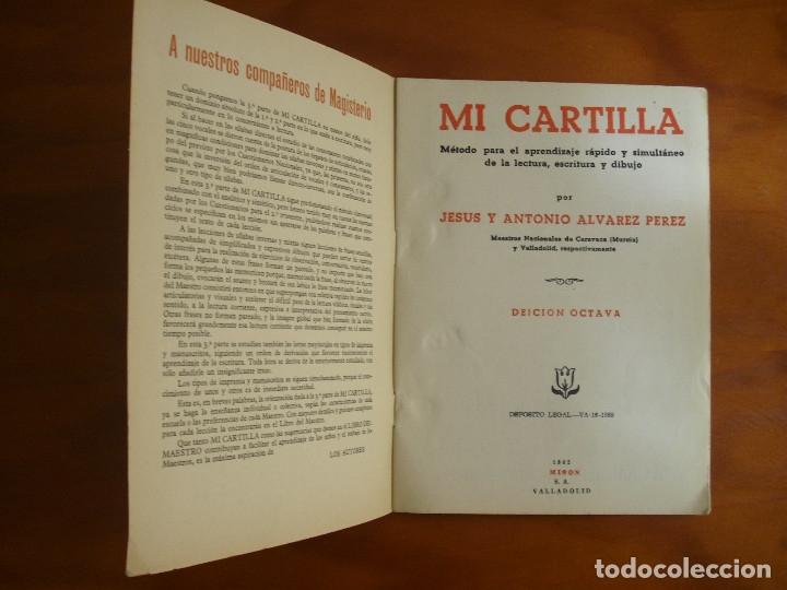 Libros de segunda mano: MI CARTILLA- TERCERA PARTE - ALVAREZ -EDICION OCTAVA- 1962 MIÑÓN VALLADOLID - Foto 2 - 136983074