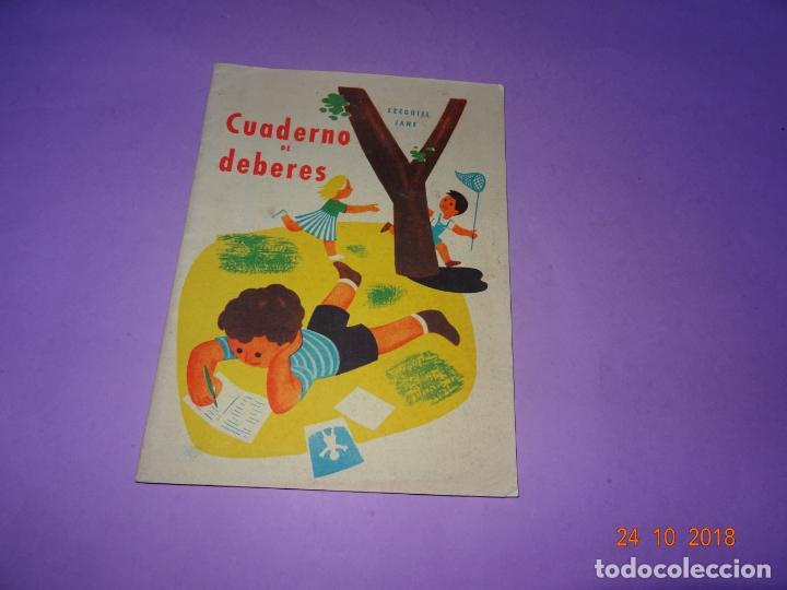 ANTIGUO CUADERNO DE DEBERES DE EDITORIAL MIGUEL SALVATELLA DEL AÑI 1963 (Libros de Segunda Mano - Libros de Texto )