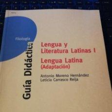 Libros de segunda mano: LENGUA Y LITERATURA LATINAS I LENGUA LATINA (ADAPTACION). Lote 137866262