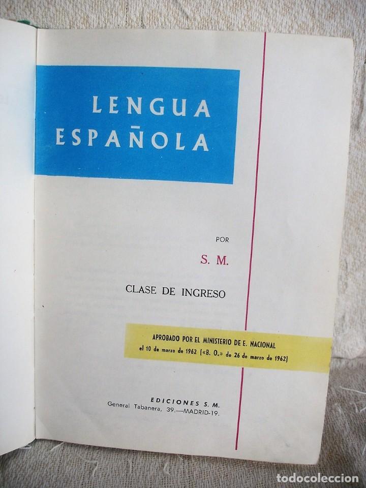 Libros de segunda mano: Lengua española. 4º grado. Ediciones S. M. 1966 - Foto 3 - 151139922