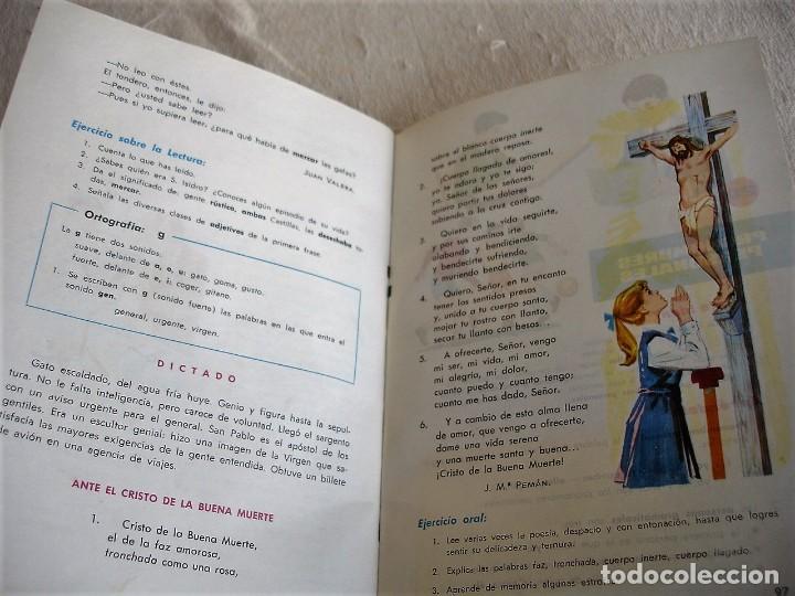 Libros de segunda mano: Lengua española. 4º grado. Ediciones S. M. 1966 - Foto 9 - 151139922