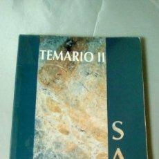 Libros de segunda mano: TEMARIO ADMINISTRATIVOS SERVICIO ANDALUZ DE SALUD (SAS).- VOLUMEN II. Lote 138998486